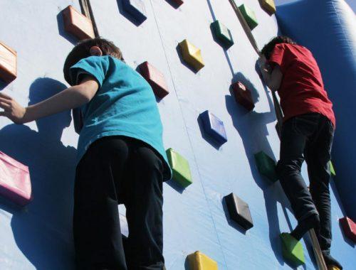 arrampicata gonfiabile